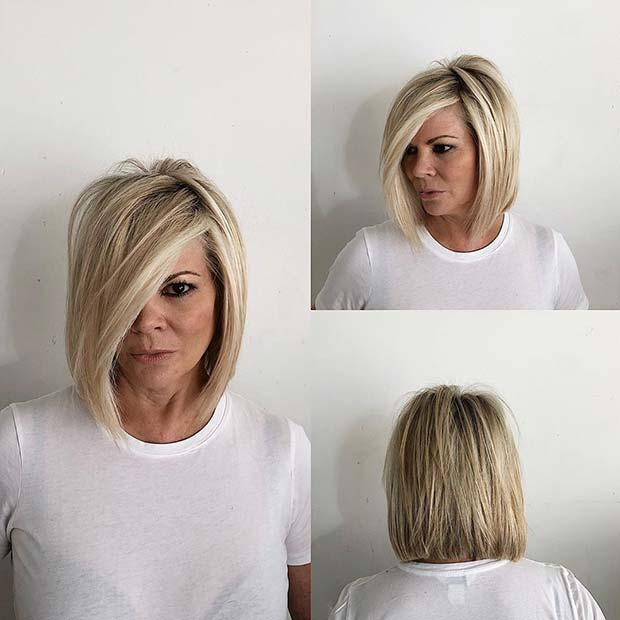 Trendy Layered Bob with a Side Part