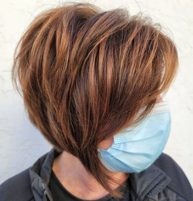 Asymmetrical Feathered Fringe with Copper Bob