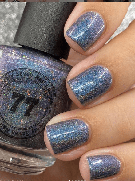 blue gray shimmer winter nail colors