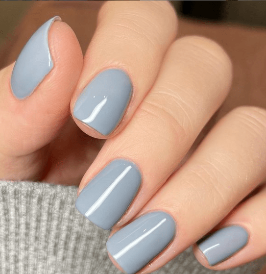 Blue gray winter nail colors