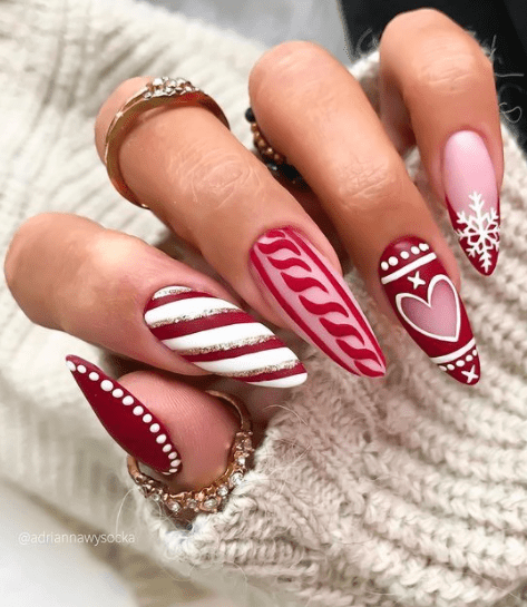 christmas nail design ideas red