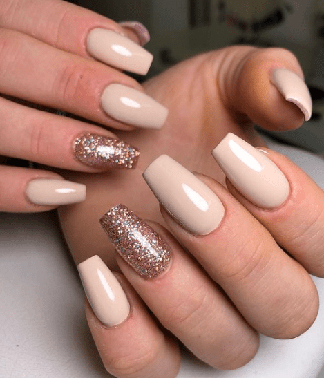 christmas rose gold nail color ideas