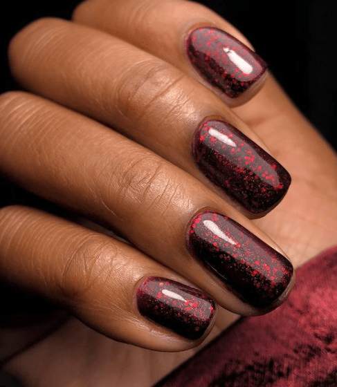 deep red winter nail colors