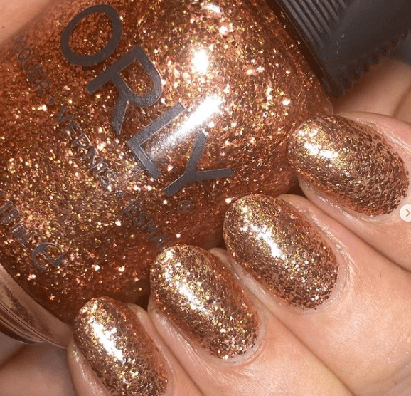 gold glitter christmas nail polish