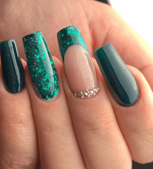 green holiday nail colors winter