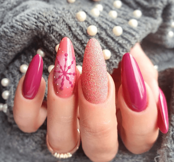 holiday nail designs acrylic