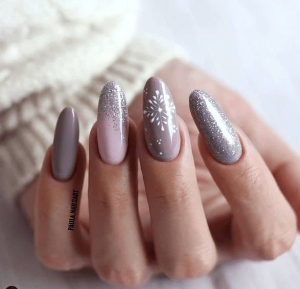 holiday nail designs with shimmer