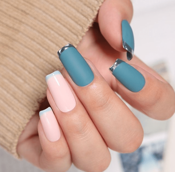 matte acrylic nail designs for winter