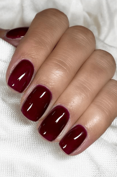 wine red christmas nails