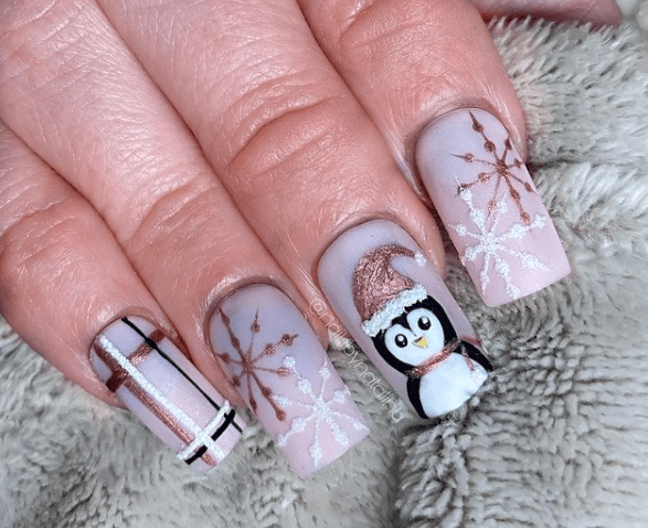 winter nail design ideas mauve