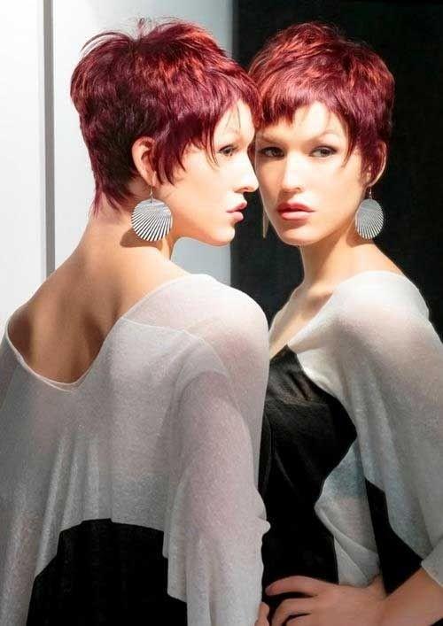 Layered Razor Cut for Short Hair