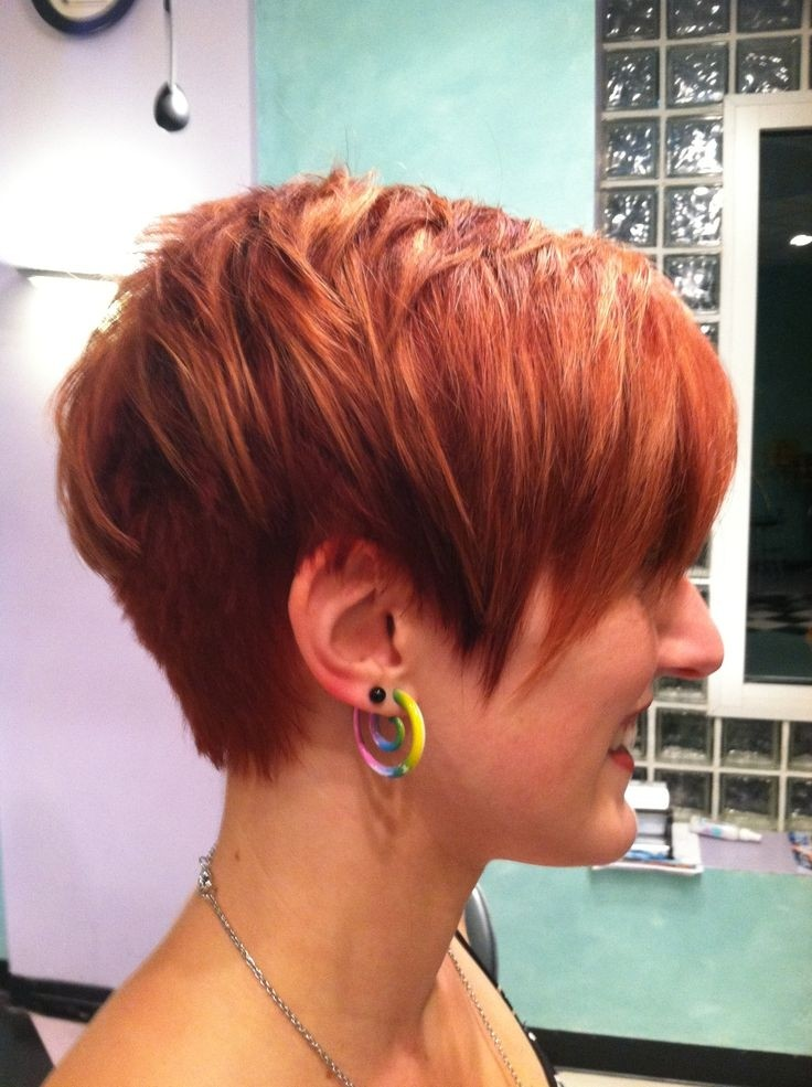 Layered Red Hair: Pretty Short Haircuts for Women