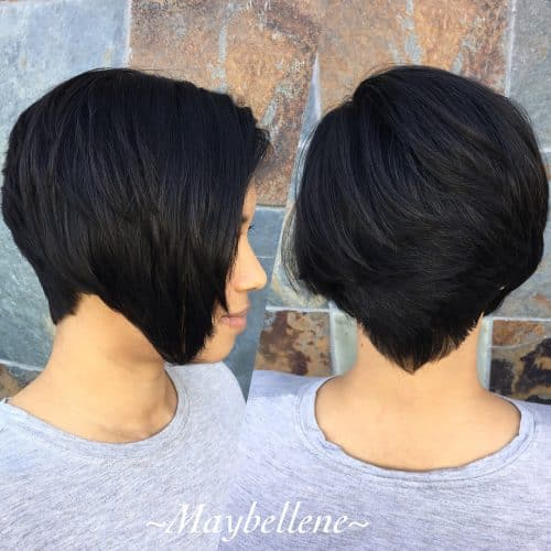 Stylish Chin Length Wedge Cut