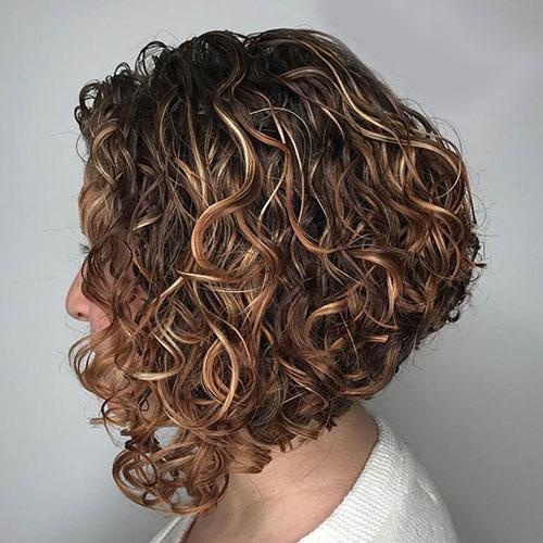 Inverted Bob Curly Hair