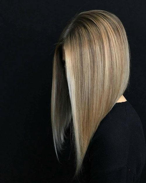 Long Inverted Bob Haircut
