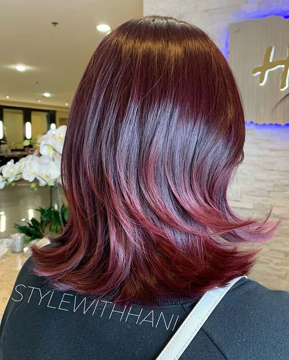 Burgundy Layered Hair Idea