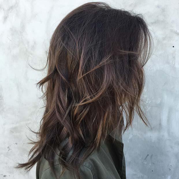 Choppy Layered Medium Hair
