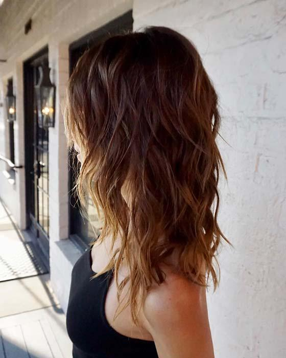 Medium Layered Hair with Lots of Layers